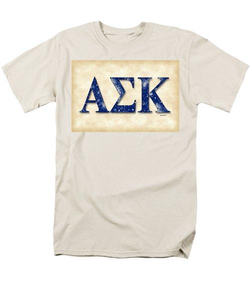Alpha Sigma Kappa - Parchment Men's T-Shirt  (Regular Fit) by Stephen Younts