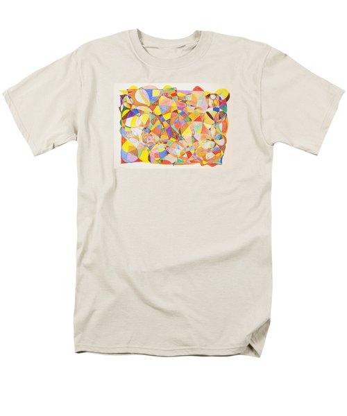 Men's T-Shirt  (Regular Fit) featuring the painting Alternate Realities by Stormm Bradshaw