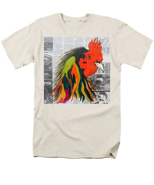 Men's T-Shirt  (Regular Fit) featuring the painting Amadeo The Tuscan Rooster by Janice Rae Pariza