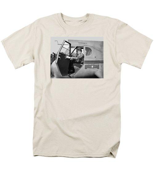 Amelia Earhart - 1936 Men's T-Shirt  (Regular Fit) by Daniel Hagerman