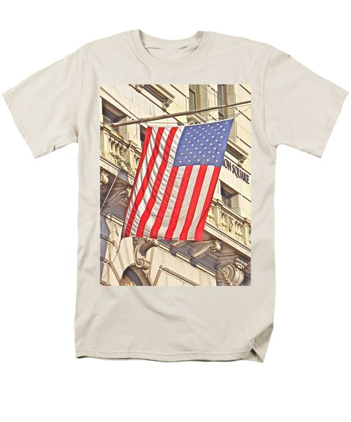Men's T-Shirt  (Regular Fit) featuring the photograph American Flag N.y.c 1 by Joan Reese