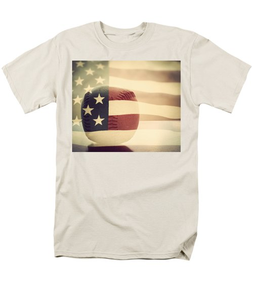 Americana Baseball  Men's T-Shirt  (Regular Fit) by Terry DeLuco