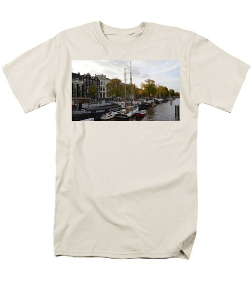 Amstel River Men's T-Shirt  (Regular Fit) by Cheryl Miller
