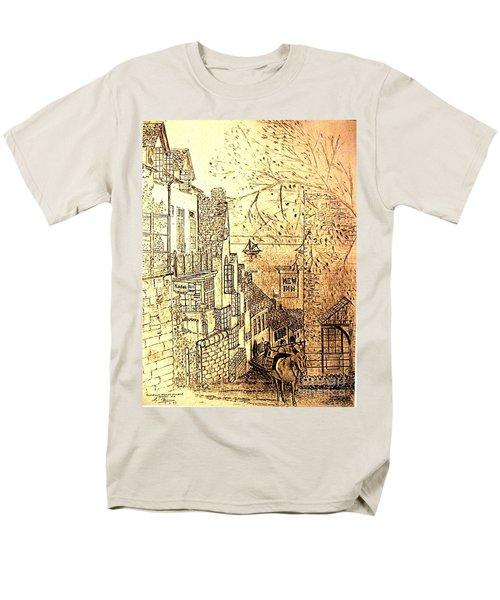 An English Fishing Village Men's T-Shirt  (Regular Fit) by Hazel Holland