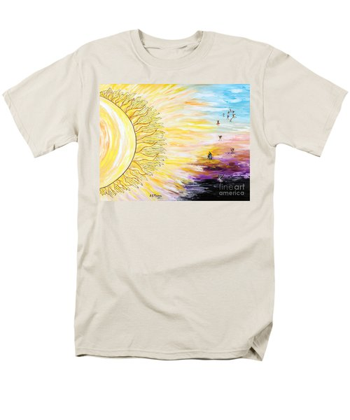 Anche Per Te Sorgera' Il Sole Men's T-Shirt  (Regular Fit) by Loredana Messina