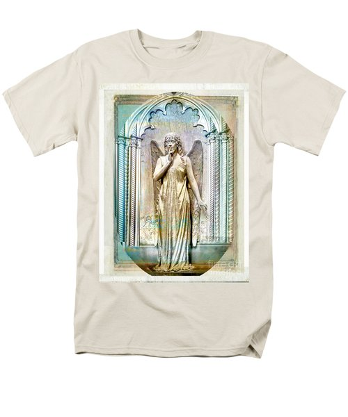 Angel Of Silence.genoa Men's T-Shirt  (Regular Fit) by Jennie Breeze