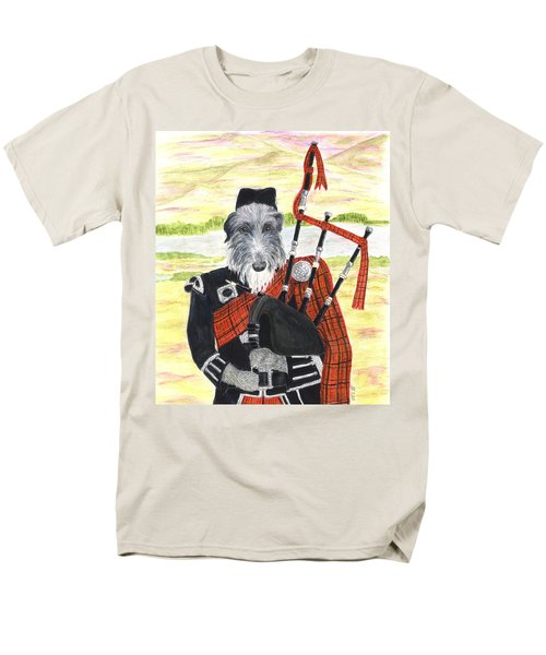 Angus The Piper Men's T-Shirt  (Regular Fit) by Stephanie Grant