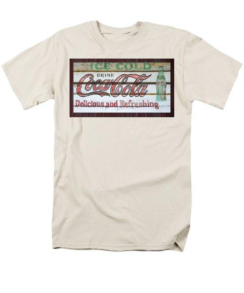 Antique Coca Cola Sign  Men's T-Shirt  (Regular Fit) by Chris Flees