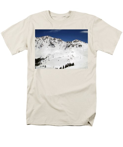 Arapahoe Basin Ski Resort - Colorado          Men's T-Shirt  (Regular Fit) by Fiona Kennard