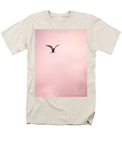Men's T-Shirt  (Regular Fit) featuring the photograph Artic Tern High In The Sky by Peta Thames