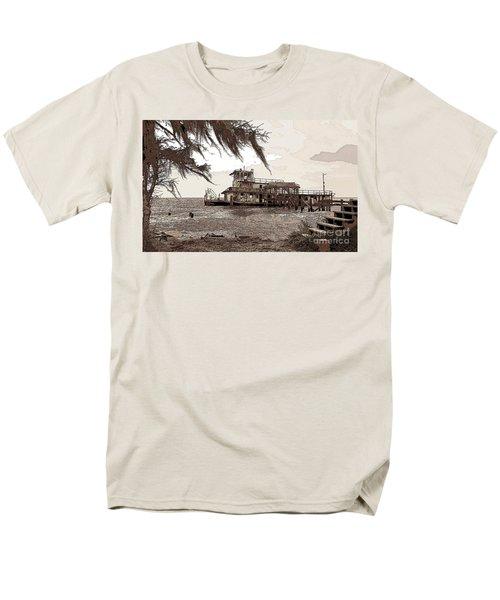 Men's T-Shirt  (Regular Fit) featuring the photograph Tugboat From Louisiana Katrina by Luana K Perez