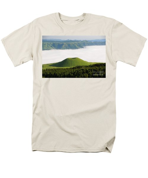 Men's T-Shirt  (Regular Fit) featuring the photograph Aso Komezuka Sea Of Clouds Cloud Kumamoto Japan by Paul Fearn