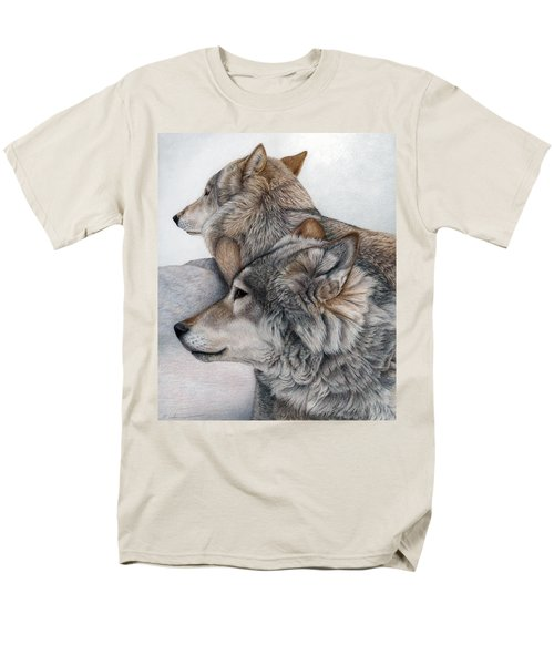Men's T-Shirt  (Regular Fit) featuring the painting At Rest But Ever Vigilant by Pat Erickson