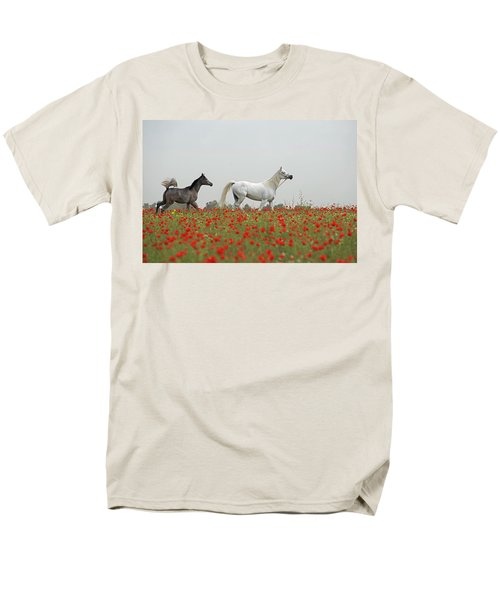 Men's T-Shirt  (Regular Fit) featuring the photograph At The Poppies' Field... 2 by Dubi Roman