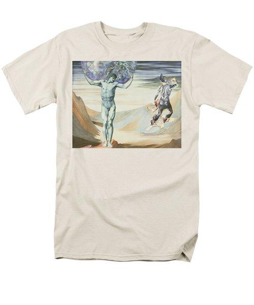 Atlas Turned To Stone, C.1876 Men's T-Shirt  (Regular Fit) by Sir Edward Coley Burne-Jones