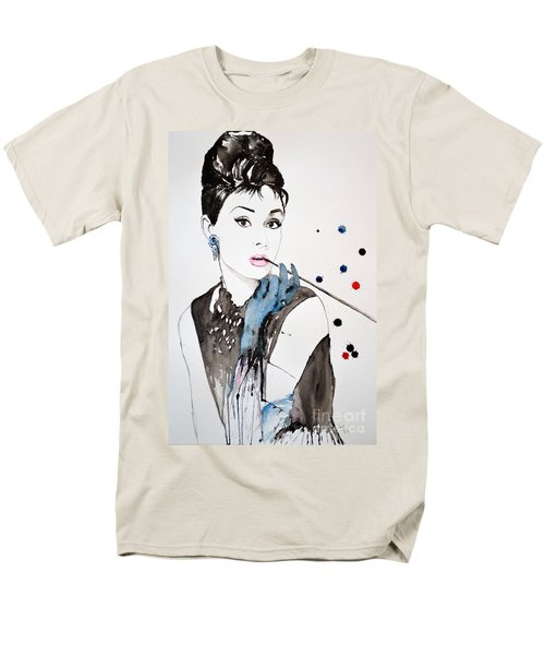 Audrey Hepburn Men's T-Shirt  (Regular Fit) by Ismeta Gruenwald