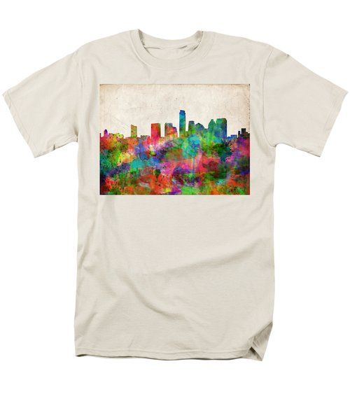 Austin Texas Abstract Panorama 4 Men's T-Shirt  (Regular Fit)