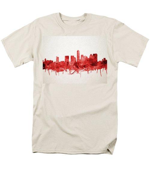 Austin Texas Skyline Watercolor 4 Men's T-Shirt  (Regular Fit)