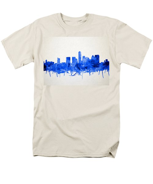 Austin Texas Skyline Watercolor 5 Men's T-Shirt  (Regular Fit)
