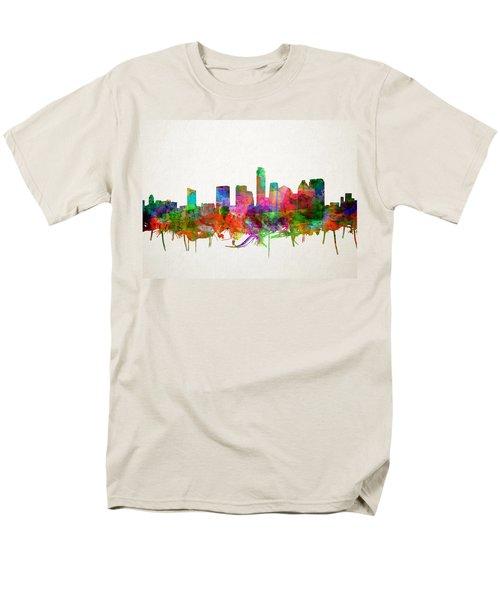 Austin Texas Skyline Watercolor Men's T-Shirt  (Regular Fit)