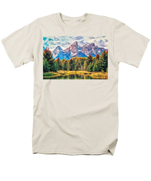 Autumn In The Tetons Men's T-Shirt  (Regular Fit) by Dominic Piperata