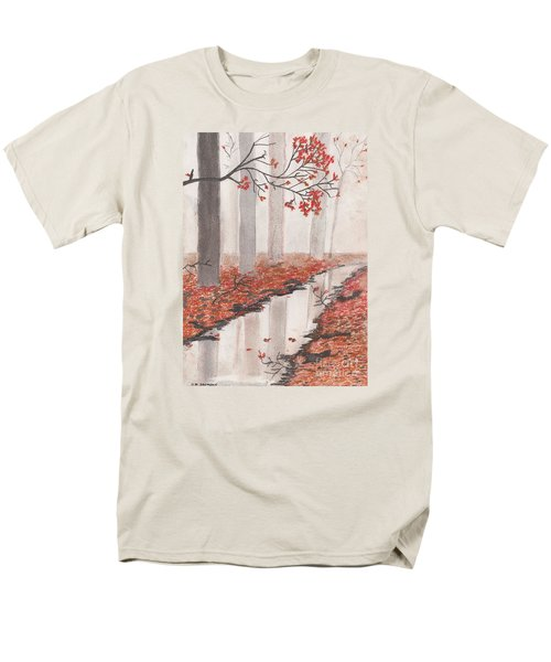 Men's T-Shirt  (Regular Fit) featuring the pastel Autumn Leaves by David Jackson