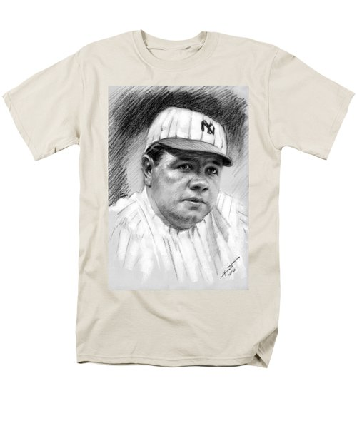 Men's T-Shirt  (Regular Fit) featuring the drawing Babe Ruth by Viola El
