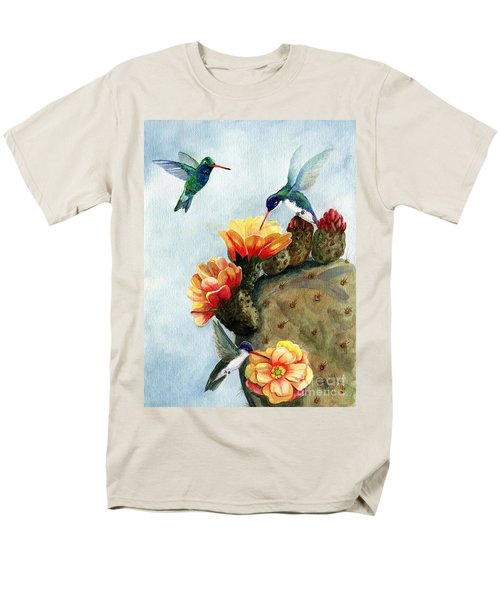 Baby Makes Three Men's T-Shirt  (Regular Fit) by Marilyn Smith