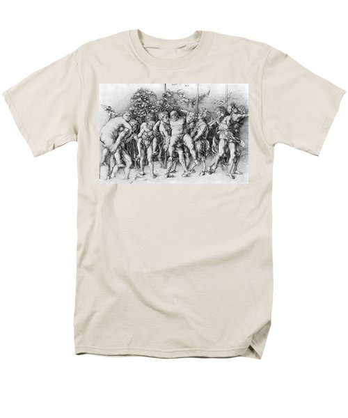 Bacchanal With Silenus - Albrecht Durer Men's T-Shirt  (Regular Fit) by Daniel Hagerman