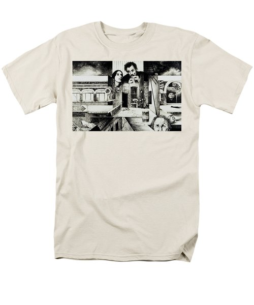 Men's T-Shirt  (Regular Fit) featuring the drawing Backlane Serenade by Otto Rapp