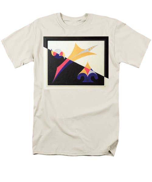Men's T-Shirt  (Regular Fit) featuring the painting Balancing Act by Ron Davidson