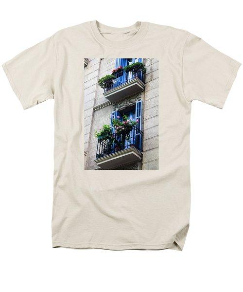 Balconies In Bloom Men's T-Shirt  (Regular Fit) by Menachem Ganon