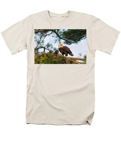 Bald Eagle With Eaglets  Men's T-Shirt  (Regular Fit) by Everet Regal