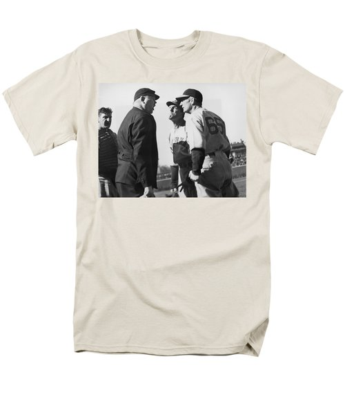 Baseball Umpire Dispute Men's T-Shirt  (Regular Fit) by Underwood Archives