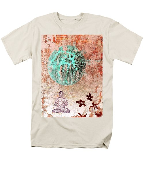 Men's T-Shirt  (Regular Fit) featuring the painting Be The Buddha by Jacqueline McReynolds