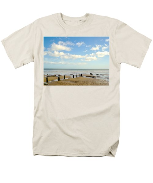 Men's T-Shirt  (Regular Fit) featuring the photograph Beach Skies by Suzanne Oesterling