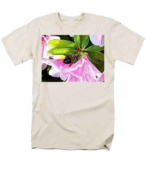 Bee On  Pink Azalea Men's T-Shirt  (Regular Fit)