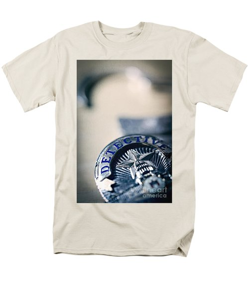 Men's T-Shirt  (Regular Fit) featuring the photograph Behind The Badge by Trish Mistric
