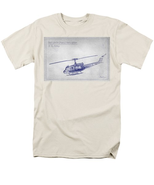 Bell Uh-1h Huey Helicopter  Men's T-Shirt  (Regular Fit) by Barry Jones