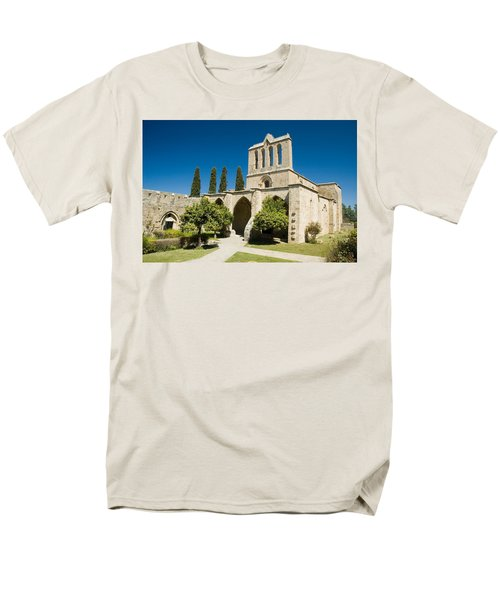 Men's T-Shirt  (Regular Fit) featuring the photograph Bellapais Abbey Kyrenia by Jeremy Voisey