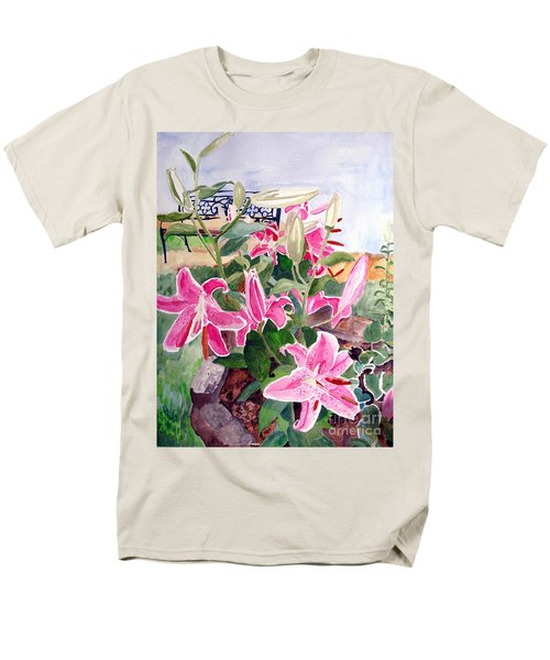 Bench On A Hill Men's T-Shirt  (Regular Fit) by Sandy McIntire