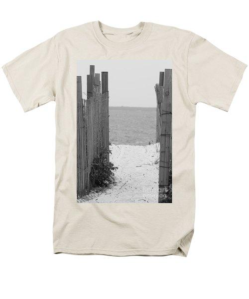 Beyond The Dunes Bw Men's T-Shirt  (Regular Fit) by Barbara Bardzik