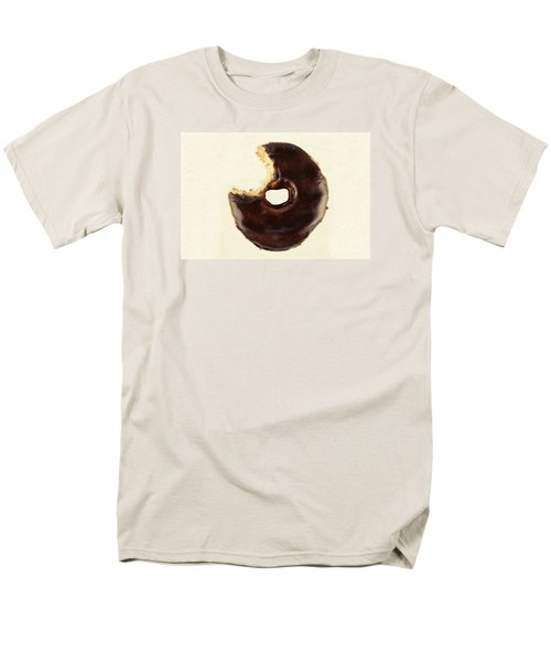 Men's T-Shirt  (Regular Fit) featuring the photograph Chocolate Donut With Missing Bite by Vizual Studio