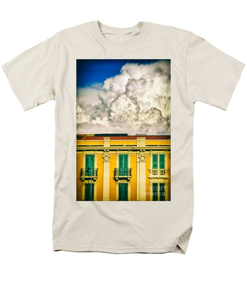 Men's T-Shirt  (Regular Fit) featuring the photograph Big Cloud Over City Building by Silvia Ganora