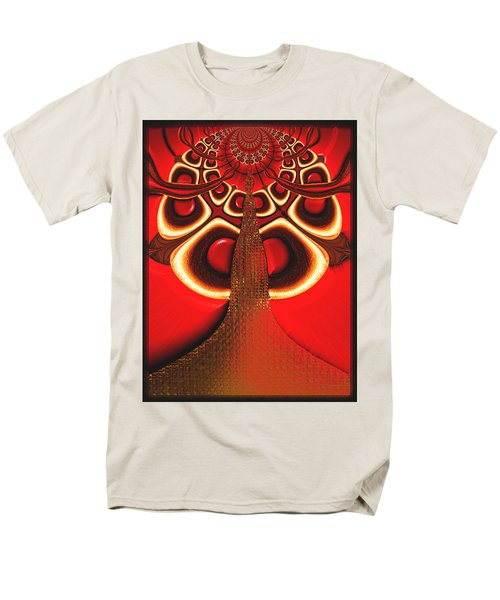 Big Tree From The Red Forest Men's T-Shirt  (Regular Fit) by Wendy J St Christopher