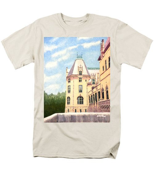 Men's T-Shirt  (Regular Fit) featuring the painting Biltmore Balcony by Stacy C Bottoms