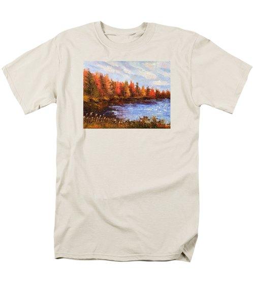 Birchwood Lake Men's T-Shirt  (Regular Fit) by Jason Williamson