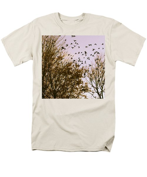 Birds Of A Feather Flock Together Men's T-Shirt  (Regular Fit) by Thomasina Durkay