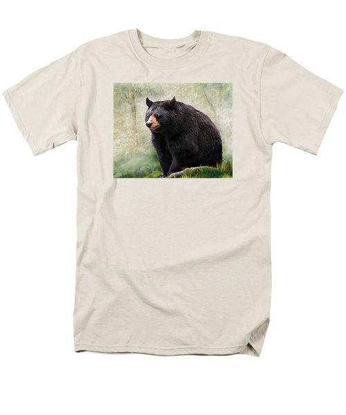 Men's T-Shirt  (Regular Fit) featuring the painting Black Bear by Mary Almond
