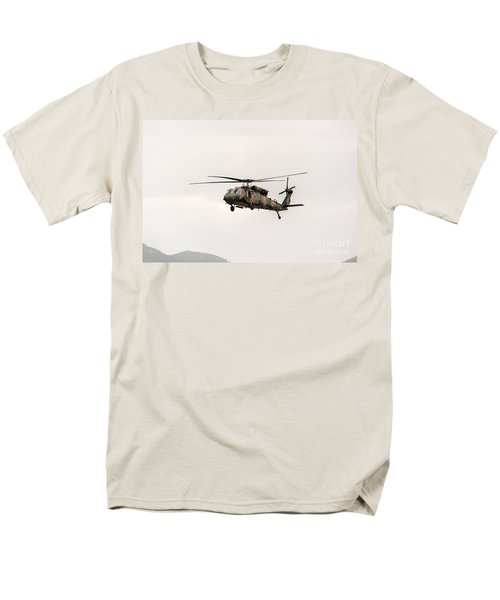 Black Hawk  Men's T-Shirt  (Regular Fit) by Ray Warren